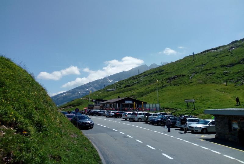 Klausenpass Passhöhe mit Kiosk-Restaurant Klausenpass