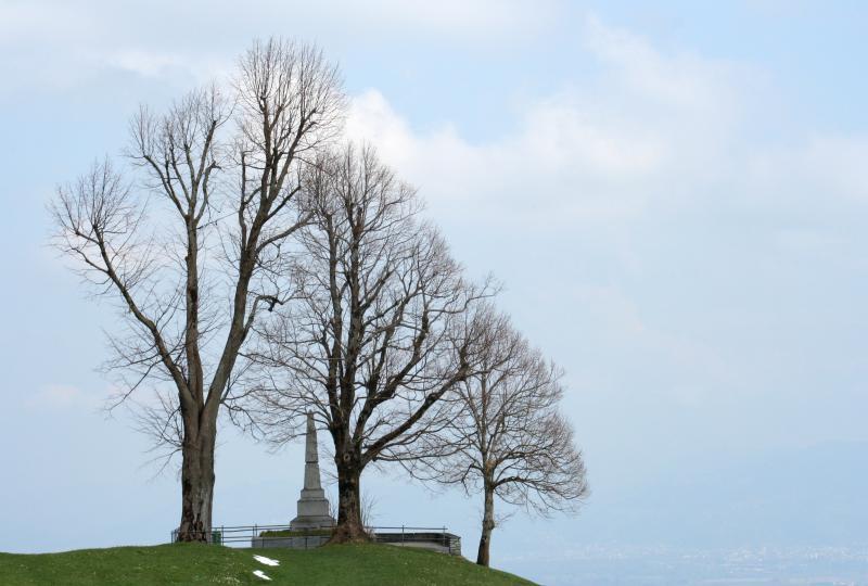 Schlachtdenkmal am Stoss - hier besiegten die Appenzeller 1405 die Habsburger