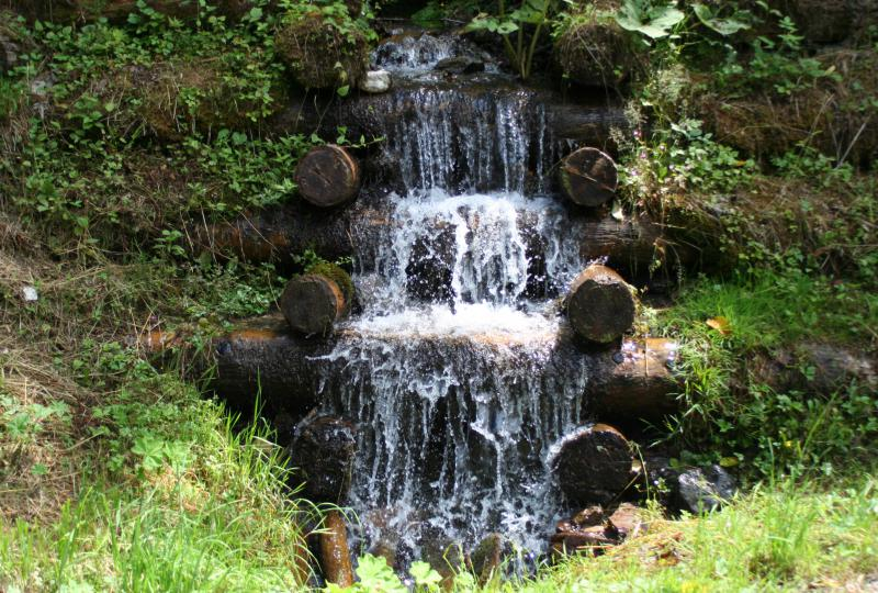 Der kleinste Wasserfall im Weisstannental