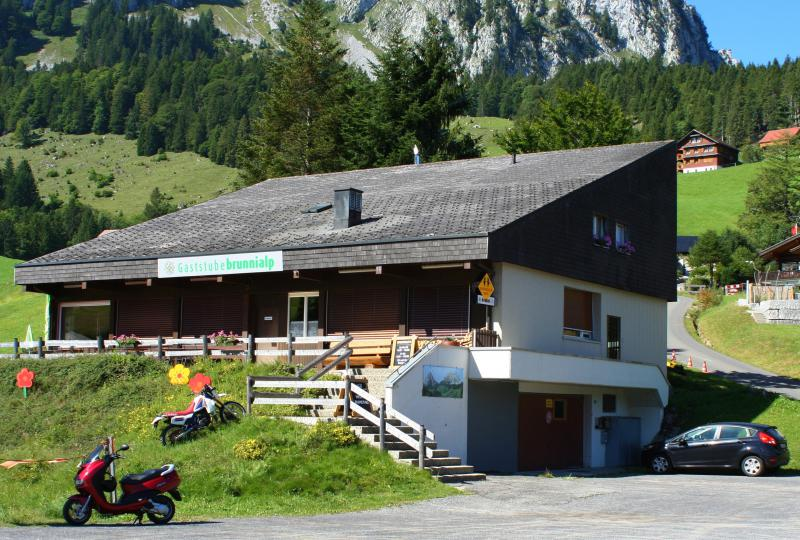 Special motorcycling parking in Brunni
