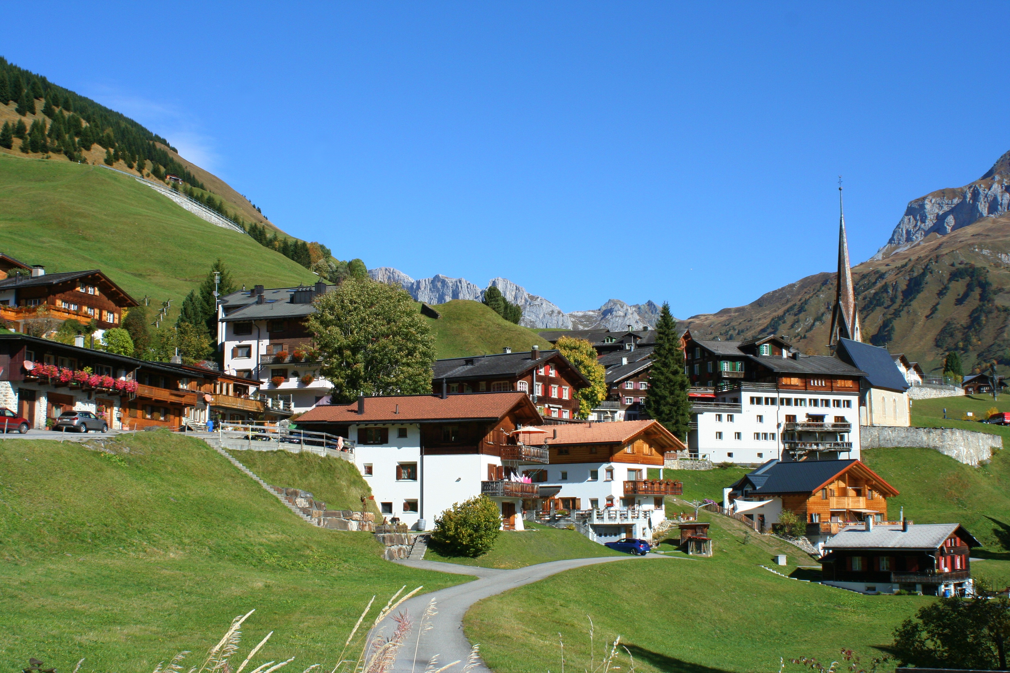 St. Antönien in the Prättigau with a local museum presenting the Walser culture of the valley with the same name