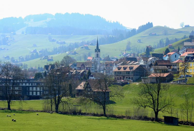 The village Urnäsch in Appenzell