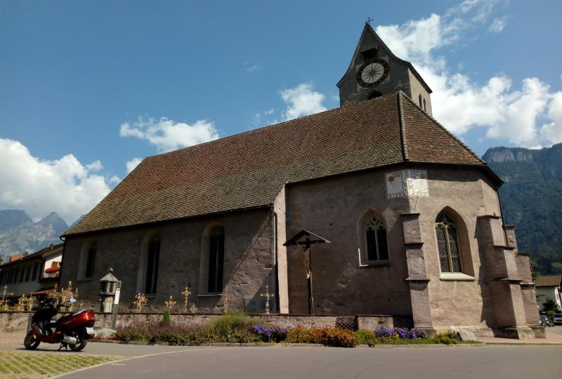 The church St. Justus in Flums is considered as an important monument in the Sarganserland and can be dated around the year 800