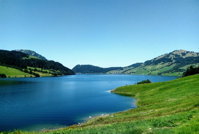 Even if the Wägitalersee is a reservoir, it seems to be more of a hikers, bikers, fishers, sunbathers or paddlers paradise