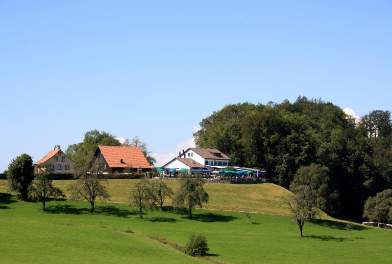 Buchenegg Passhöhe mit dem gleichnamigen Restaurant