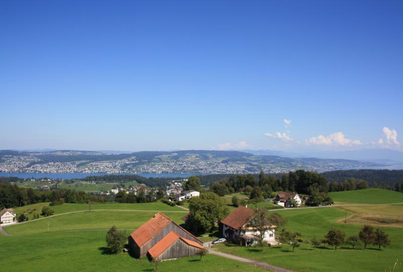 Albispass: Grandiose Aussicht auf den Zürichsee