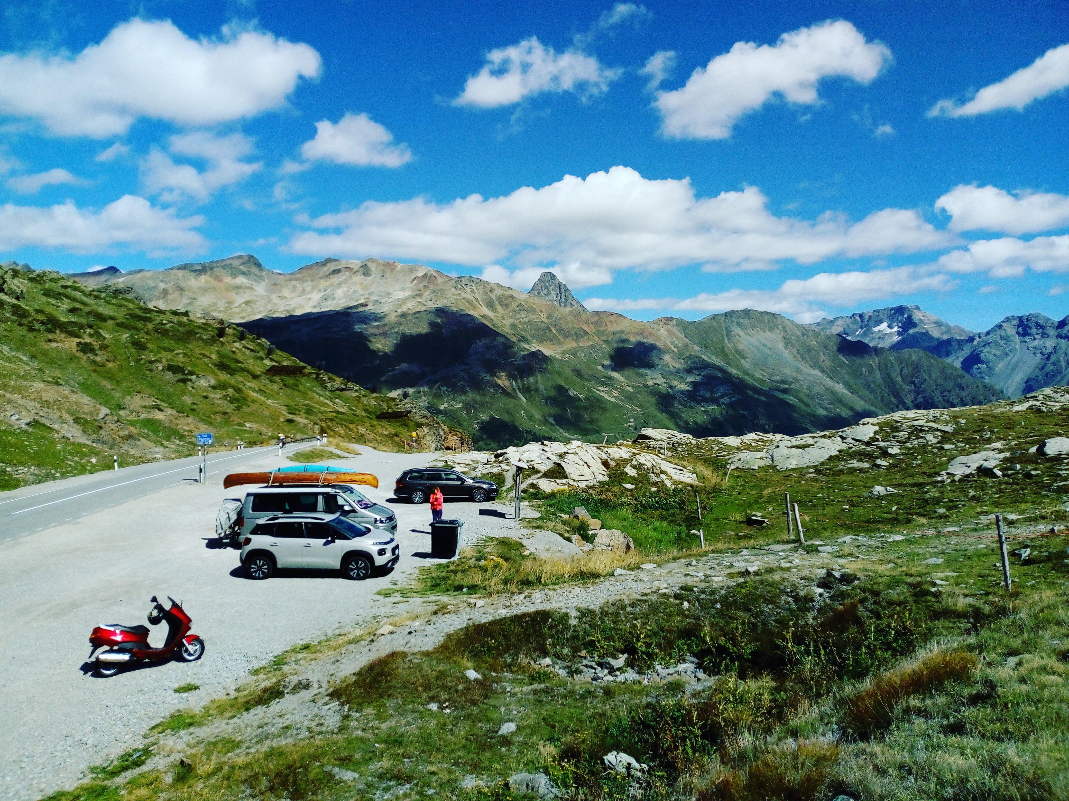 Pausen-Stimmung auf dem Berninapass