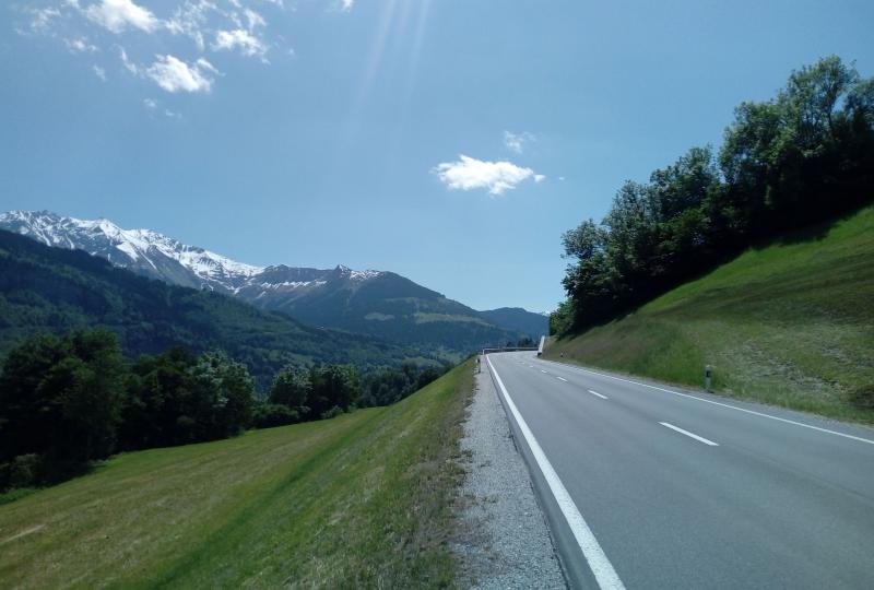 Auf der Fahrt ins Val Lumnezia von Ilanz aus