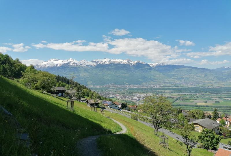 Das Rheintal von Liechtenstein aus gesehen