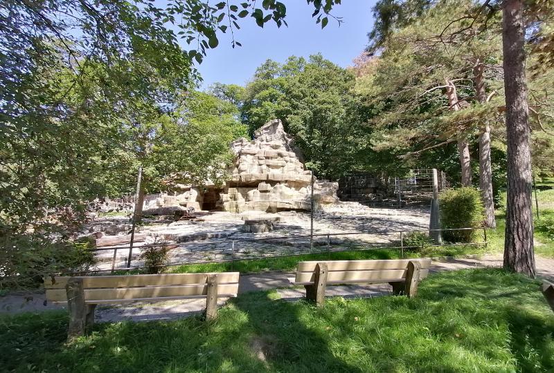Wildnispark Zürich Langenberg: Leeres Affen-Gehege