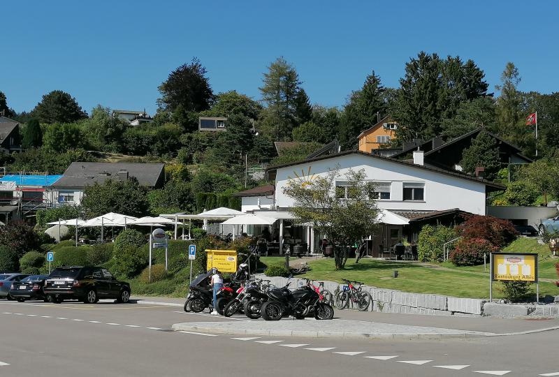 Beliebt bei Motorradfahrern: Restaurant Albis